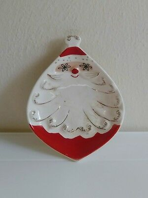 vintage 1959 holt howard starry eyed santa christmas candy dish