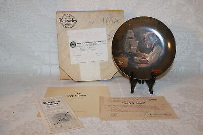 Norman Rockwell Collector Plate Knowles 1980 THE SHIP BUILDER Rockwell Heritage