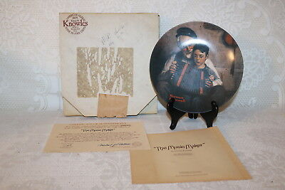 Norman Rockwell Collector Plate Knowles 1981 THE MUSIC MAKER Rockwell Heritage