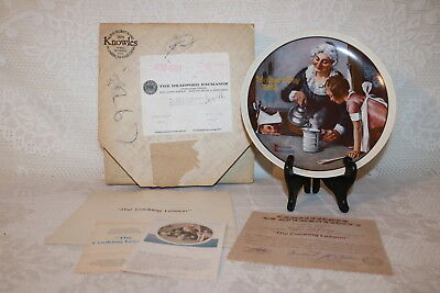 Norman Rockwell Collector Plate Knowles 1982 THE COOKING LESSON Mother's Day
