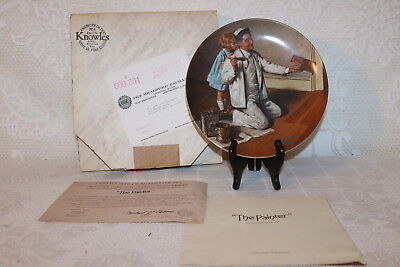Norman Rockwell Collector Plate Knowles 1983 THE PAINTER Rockwell Heritage