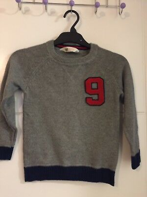 Boys H&M Grey Knitted Jumper 4-6 Years