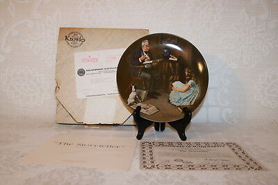 Norman Rockwell Collector Plate Knowles 1984 THE STORYTELLER Rockwell Heritage