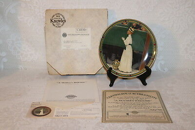 Norman Rockwell Collector Plate Knowles 1986 A MOTHER'S WELCOME American Dream