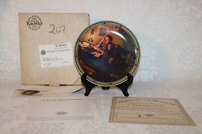 Norman Rockwell Collector Plate Knowles 1986 A YOUNG MAN'S DREAM American Dream