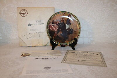Norman Rockwell Collector Plate Knowles 1986 THE MUSICIAN'S MAGIC American Dream