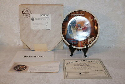 Norman Rockwell Collector Plate Knowles 1986 THE PANTRY RAID Mothers Day