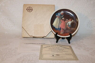 Norman Rockwell Collector Plate Knowles 1987 GRANDMA'S SURPRISE Mother's Day