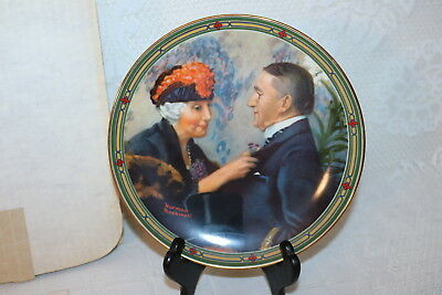 Norman Rockwell Collector Plate Knowles 1987 LOVE'S REWARD American Dream