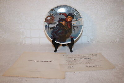 Norman Rockwell Collector Plate Knowles CHRISTMAS COURTSHIP Christmas Series