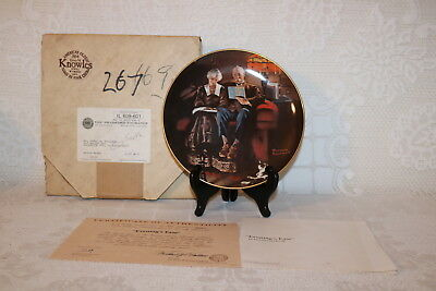 Norman Rockwell Collector Plate Knowles EVENING'S EASE Light Campaign