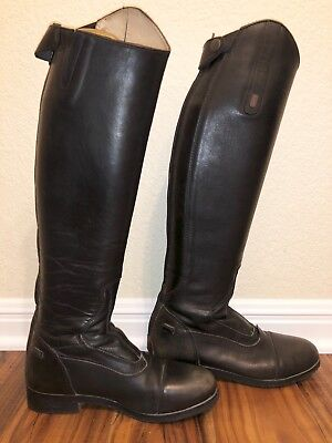 Equestrian Donatello Tredstep Tall Black Dress Boots Size 7