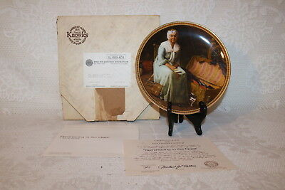 Norman Rockwell Collector Plate Knowles REMINISCING IN QUIET Rediscovered Women
