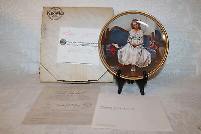 Norman Rockwell Collector Plate Knowles WAITING AT THE DANCE Rediscovered Women