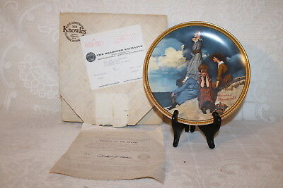 Norman Rockwell Collector Plate Knowles WAITING ON THE SHORE Rediscovered Women