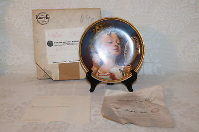 Norman Rockwell Collector Plate MAKING BELIEVE AT THE MIRROR Rediscovered Women
