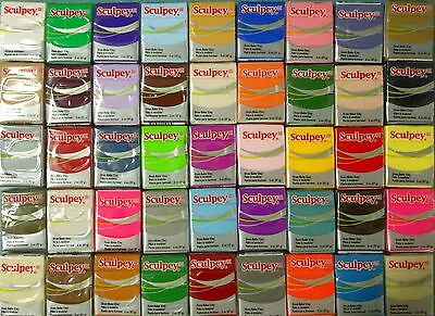 Sculpey III  -  Oven Bake Polymer Clay - Your Choice of  12 x Blocks 57gm