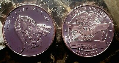 Don't Mess with Me 1oz. Pure Copper Bullion Round!!