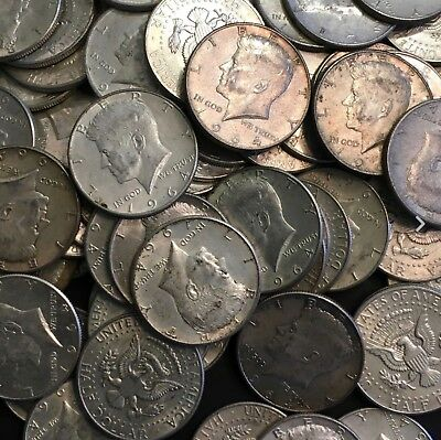 Kennedy Half Dollars 1964 , 90% Silver Coin Lot, Circulated, You choose amount