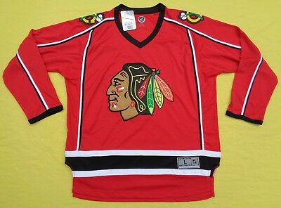 reputable site cae76 001a3 NEW NWT CHICAGO Blackhawks Authentic NHL Hockey Jersey Mens L LARGE Sewn