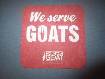 1 only MOUNTAIN GOAT Micro Brewery, ,Victoria Issued  BEER COASTER