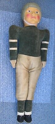"""Vintage Yale Football Player Figure or Doll Made in Japan 13.5"""" tall OLD estate"""