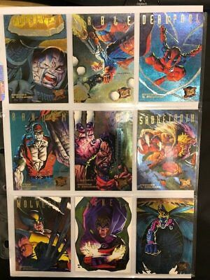 '95 Fleer Ultra X-Men Insert Hunters Stalkers Full Set Marvel Trading Card Lot