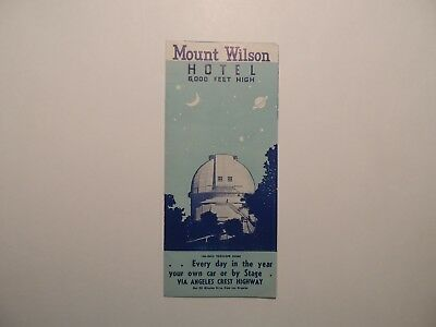 Mount Wilson Hotel Los Angeles California vintage brochure AC Childs Manager