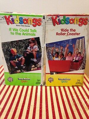 Kidsongs Ride The Roller Coaster If We Could Talk To The Animals Vhs