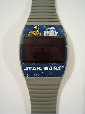 STAR WARS C-3PO & R2-D2 Digital Watch 1977 Texas Instruments Vintage