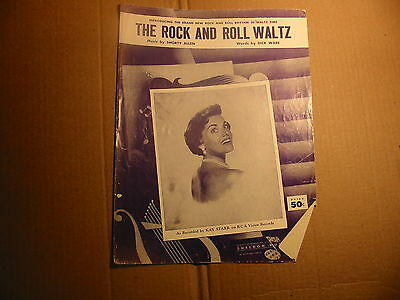 The Rock And Roll Waltz  Kay Starr  Vintage Vocal Piano Sheet Music