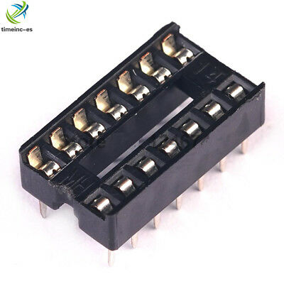 20PCS 14-pin DIP IC Socket Adaptor Solder Type Socket Pitch Dual Wipe Contact