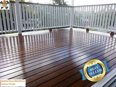 Spotted Gum Decking Feature Grade 86x19mm $2.75p/m