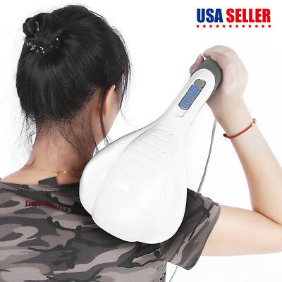 Massager Handheld Electric Vibrating Double Head Neck Back Relax Full Body