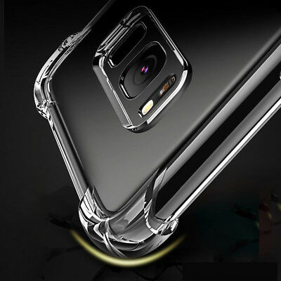 Soft Clear Silicone TPU Transparent Cover Case For Samsung Galaxy Series