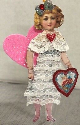 Handmade Lace Doll Paper Valentine Girl Christmas Decoration Ornament
