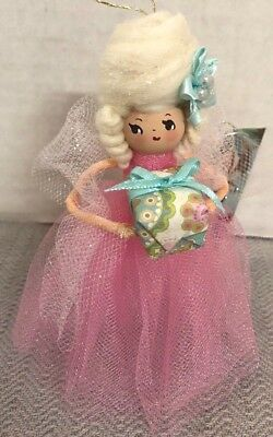Handmade HOLIDAY MARIE ANTOINETTE w GIFT Doll Tree Ornament-Sugar Cookie Dolls