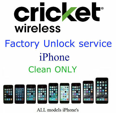 OFFICIAL CRICKET IPHONE UNLOCK SERVICE Xs Xr Xs Max X 8 8+ 7 7+ 6S 6S+ 6 6+