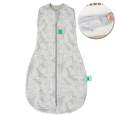 ErgoPouch Organic/Bamboo 0.2 TOG Cocoon Swaddle Bag 3-12m Baby/Infant Leaves GRY