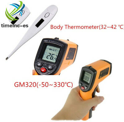 GM320 Non-Contact LCD IR Infrared Laser Temperature Gun/Bady Thermometer NEW