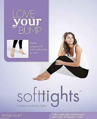 Soft Tights Microfibre Footless MaternityTights Fertile Mind BLK MULTI FIT Gift