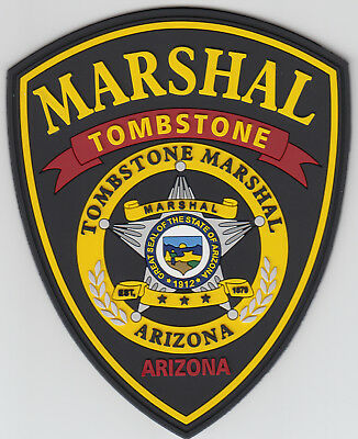 RARE-Tombstone Marshal PVC patch. See photo.