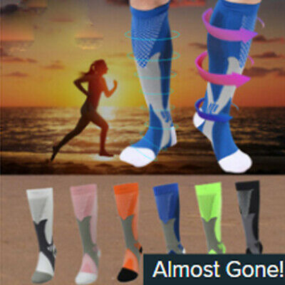 Men Women Compression Long Socks Leg Foot Support Pain Relief Sports Orthotics