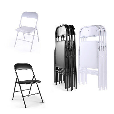 (4-6 PACK) Plastic Folding Chairs Commercial Wedding Party Event Beach Chair