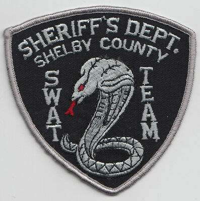Sheriff's Dept. Shelby County SWAT Team patch. See photo.