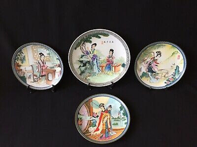 4 Chinese Imperial Jingdezhen Porcelain Collectible Decorative Legendary Plates