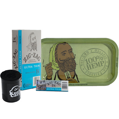 Zig Zag Rolling Green Tray Zig Zag Ultra Thin 1 1/4 Rolling Papers (1 Pack)