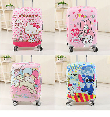 Lovely cartoon printed on travel luggage bag cover, dust-proof, 3 size (S, M, L)
