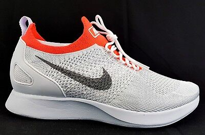 Nike Air Zoom Mariah Flyknit Racer Pure Platinum Running Shoes Size Mens 9.5 New