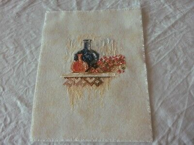 Lanarte Completed Cross Stitch - Composition/carafe